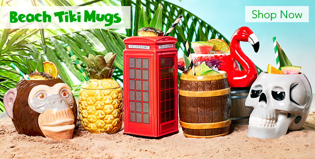 Summer Tiki Mugs