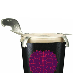 Brütül Lagerhead Black and Tan Turtle with Snapper Bottle Opener