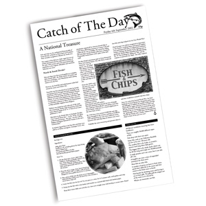 Catch of the Day Greaseproof Paper 26.5 x 43cm