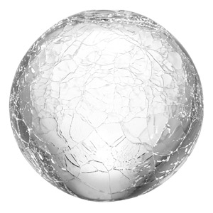 LSA Glass Globes Crackle 10cm