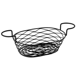 Birdsnest Basket Oblong with Ramekin Holders