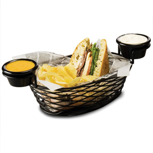 Birdsnest Basket Oblong with Ramekins