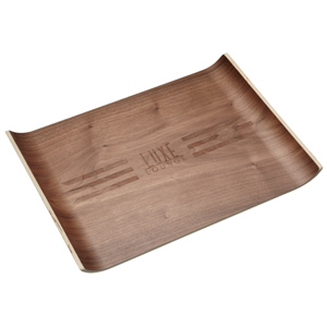 Luxe Lounge Walnut Veneer Large Serving Tray