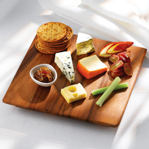 Mutsu Acacia Wood Serving Board 25 x 25 x 3cm