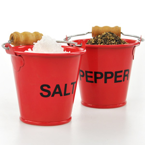 Pinchpots Salt & Pepper Fire Buckets