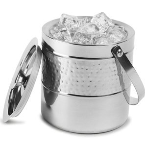 Double Walled Hammered Band Ice Bucket