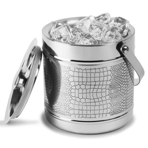 Stainless Steel Crocodile Etched Ice Bucket