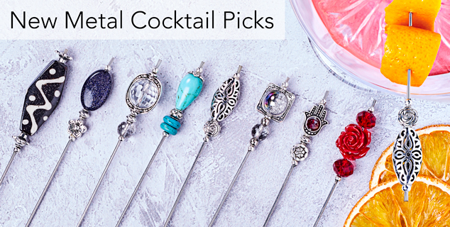 New Reusable Metal Cocktail Picks