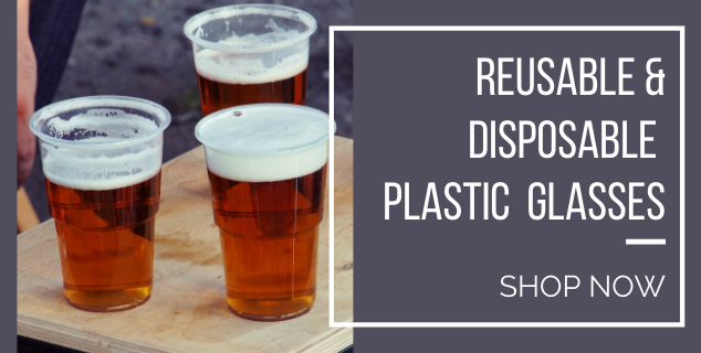 Reusable & Disposable Plastic Glassware