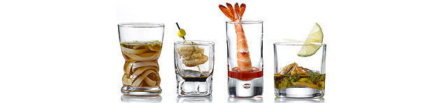 Appetiser Shot Glasses and Dessert Shot Glasses