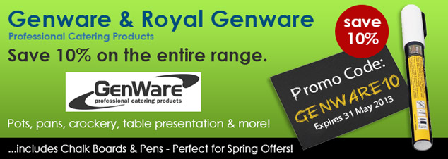 10% off ALL GENWARE - 1 Week Only!