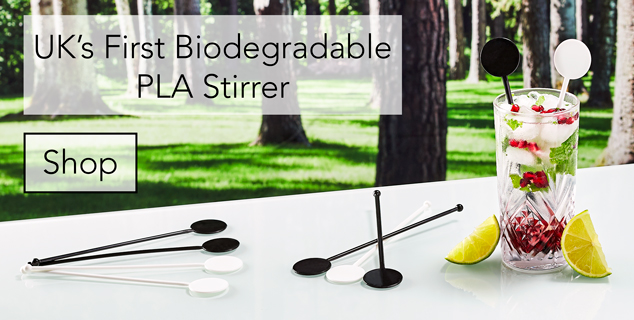 UK's First Biodegradable PLA Stirrer