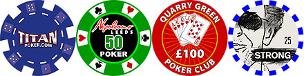 Examples of previous ceramic poker chips designs