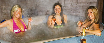 The Lay Z Spa is a great winter warmer!