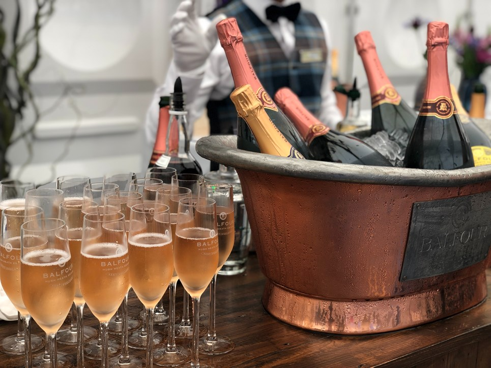 Champagne bucket and Champagne flutes