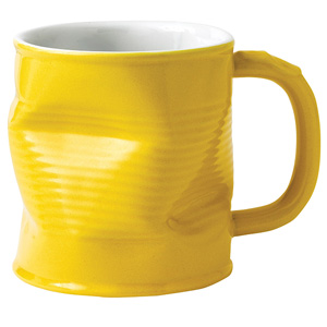 Squashed Tin Can Mug Yellow 7.8oz / 220ml