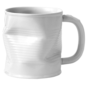 Squashed Tin Can Mug White 7.8oz / 220ml