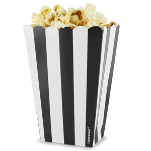 Candy Buffet Popcorn Treat Boxes Black