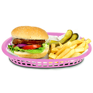 Chicago Oval Platter Basket Pink 27x18x4cm