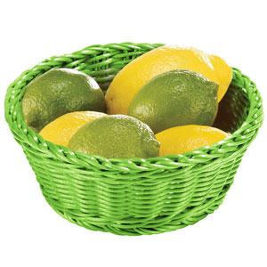 Image of Ridal Polypropylene Round Basket Green 21 x 8cm (Pack of 6)