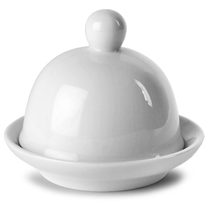 Porcelite Creations Round Covered Butter Dish 9 x 6.5cm