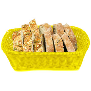 Ridal Polypropylene Rectangular Basket Yellow 29 x 21.5 x 9cm