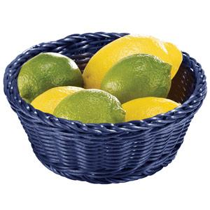 Image of Ridal Polypropylene Round Basket Blue 21 x 8cm (Pack of 6)