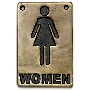 Bronze Toilet Sign Women