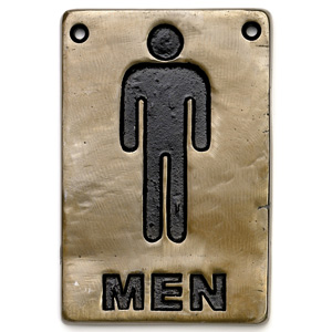 Bronze Toilet Sign Men