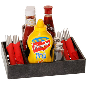 Multi Purpose Condiment Server Charcoal