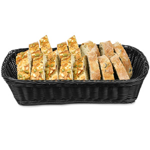 Ridal Rectangular Basket Black 19 x 14 x 4inch