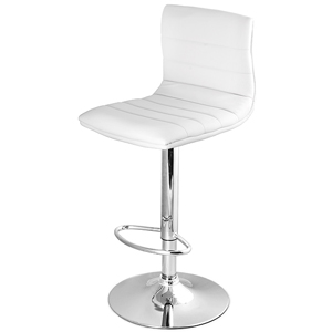 Ridge Bar Stool White