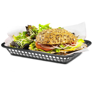 Grande Serving Basket Black 27x20x4cm