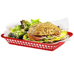 Grande Serving Basket Red 27x20x4cm
