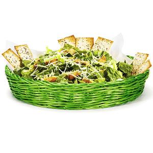 Image of Ridal Polypropylene Round Basket Green 30.5 x 5cm (Single)