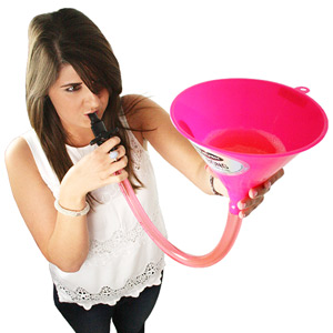 Ultimate Pink Beer Bong Funnel
