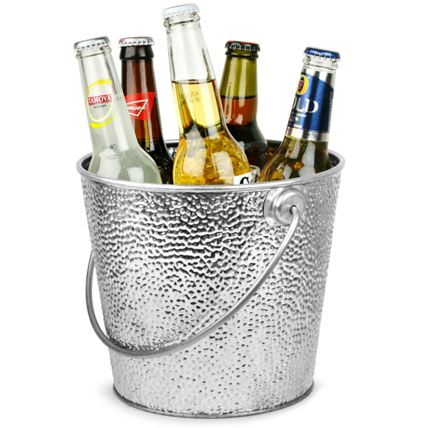 Galvanised Steel Beer Bucket Round 20cm Drinkstuff