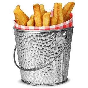 Galvanised Steel Serving Bucket Round 10cm