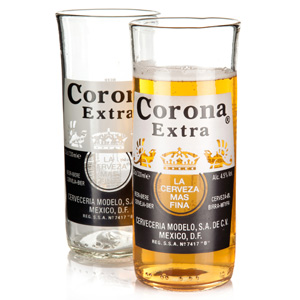 Recycled Corona Extra Beer Bottle Glasses 11.6oz / 330ml
