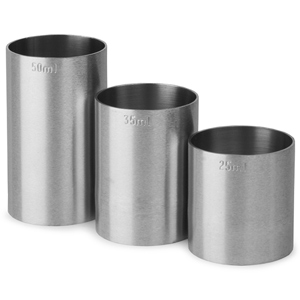 Stainless Steel Thimble Bar Measures 3 Piece Bundle Set