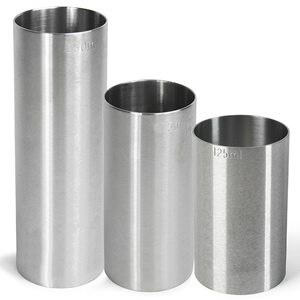 Stainless Steel Thimble Wine Measure 3 Piece Bundle Set