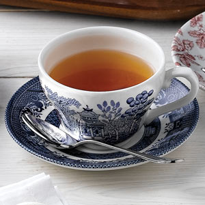 Churchill Vintage Print Blue Willow Georgian Tea Cup & Saucer 7oz / 200ml