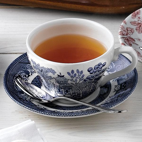 Churchill Vintage Print Blue Willow Georgian Tea Cup