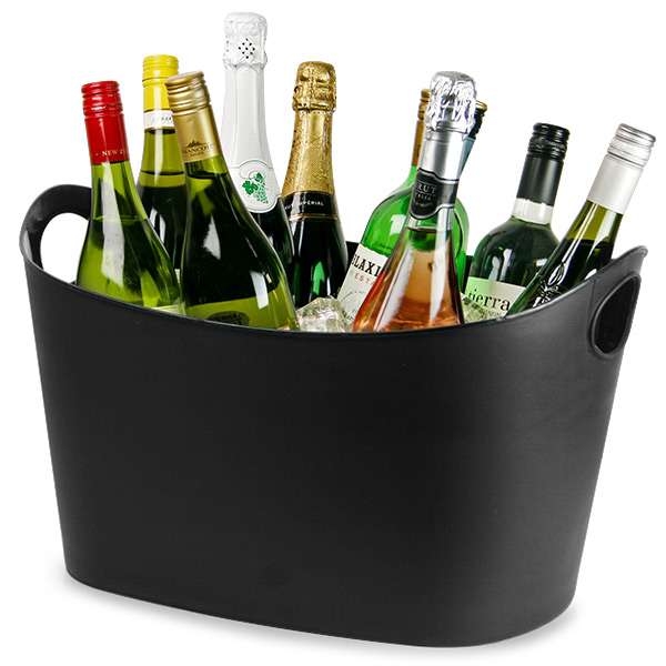 Samba Party Tub Black Plastic Drinks Pail Bottle Chiller