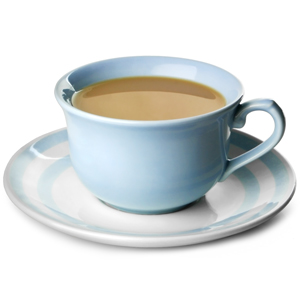 Churchill Vintage Café Tea Cup Blue & Saucer Blue Stripes 10oz / 280ml