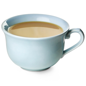 Churchill Vintage Café Tea Cup Blue 10oz / 280ml