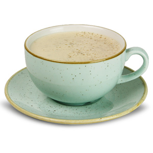 Churchill Stonecast Duck Egg Cappuccino Cup & Saucer 12oz  340ml (Single)