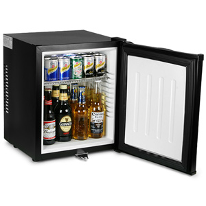 ChillQuiet Silent Mini Bar Fridge 24ltr Black