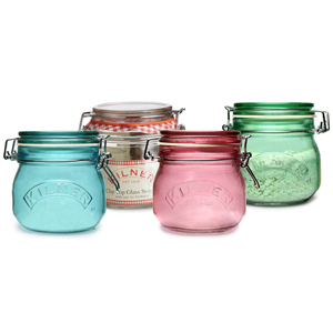 Kilner 4 Piece Round Clip Top Jar Set 0.5ltr