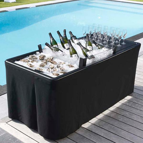 Ice Table Black 186 X 79cm Drinkstuff